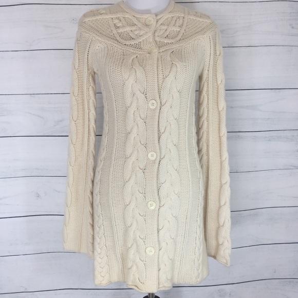 henri bendel Sweaters - Henri Bendel 100% Cashmere Cable Knit Sweater Coat 98f8e93a0